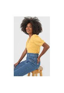 Camiseta Forum Mangas Bufantes Amarela