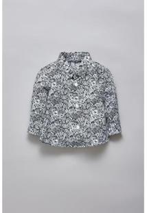 Camisa Bebê Liberty Luna Reserva Mini Masculina - Masculino-Branco