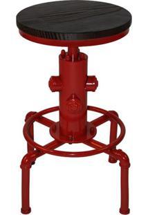 Banqueta Industrial Extintor Vermelha Base Metal 75 Cm (Alt) - 37876 Sun House