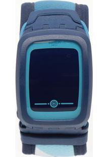 Relógio Digital Abstrato Svqn102Xl- Azul Escuro & Azul Cswatch