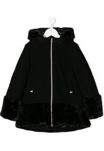 Herno Kids Zipped-Up Coat - Preto
