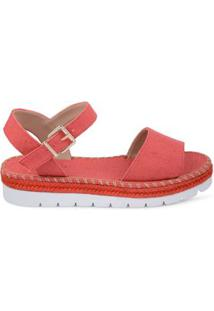 Anabela Flat Form Palm Coral Coral/39