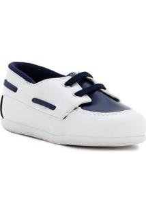 Sapato Infantil Para Bebê Menino - Banco/Azul Marinho