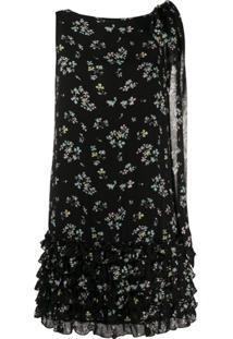 Blumarine Vestido Sem Mangas Com Estampa Floral - Preto