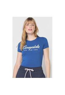 Camiseta Aeropostale Logo Azul