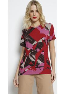 Camiseta Canelada- Vermelha & Rosa- Forumforum
