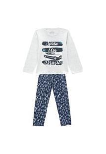 Pijama Primeiros Passos Abrange Carro Viagem Mescla E Cinza Abrange Casual Cinza