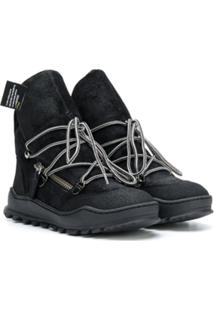 Cinzia Araia Kids Lace-Up Boots - Preto