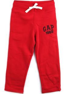 Calça De Moletom Gap Menino Logo Vermelha