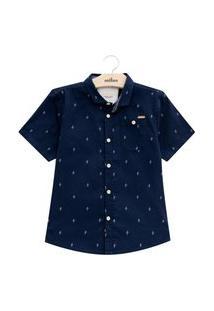 Camisa Infantil Menino Milon Marinho