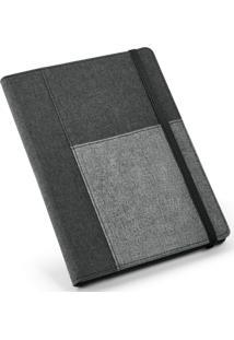 Caderno Executivo Com Porta Celular Topget Cinza