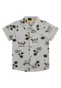 Camisa Infantil Menino Vacation Mescla - Alakazoo