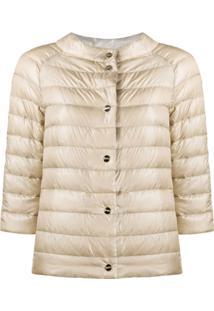 Herno Reversible Short Puffer Jacket - Neutro