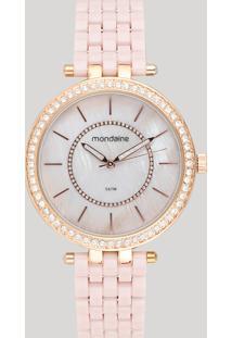 Relógio Analógico Mondaine Feminino - 53664Lpmvre3 Rosê - Único
