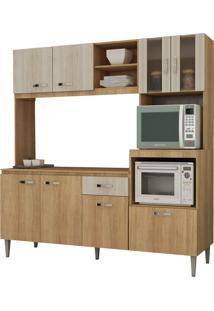 Cozinha Compacta Tati C/ Tampo Carvalho/Blanche Fellicci Móveis