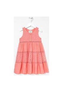 Vestido Infantil Com Renda E Tule - Tam 5 A 14 Anos | Fuzarka (5 A 14 Anos) | Rosa | 13-14