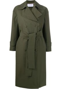 Harris Wharf London Oversized Double-Breasted Trench Coat - Verde