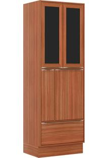 Paneleiro C/ Porta Tempero E Moldura De Vidro 5406R – Multimóveis. - Nogueira