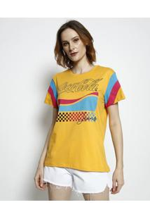"Camiseta ""Coca-Cola Jeansâ®""- Amarelo Escuro & Azul Clarococa-Cola"