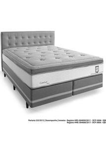 Cama Box Queen Herval, Confort Master, 75X158X198 Cm, Molas Ensacadas E Cabeceira