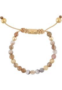 Nialaya Jewelry Pulseira Com Banho De Ouro 18K - Marrom