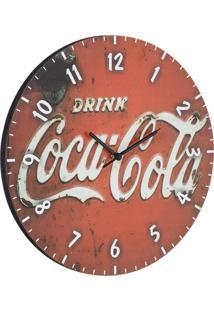 Relógio De Parede Coca-Cola Vermelho