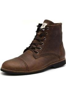 Bota Shoes Grand Detalhe Masculina - Masculino-Marrom Escuro