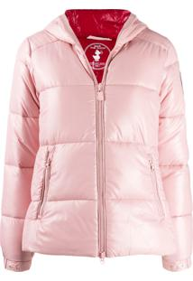 Save The Duck Hooded Padded Jacket - Rosa