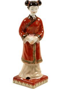 Escultura Decorativa De Porcelana Chinesa Relic