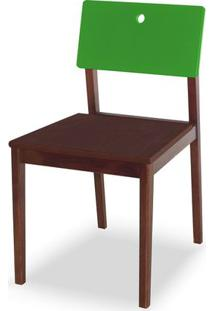 Cadeira Flip Cor Cacau Com Encosto Verde - 31133 - Sun House