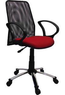 Cadeira De Escritório Secretária Milão Vermelho