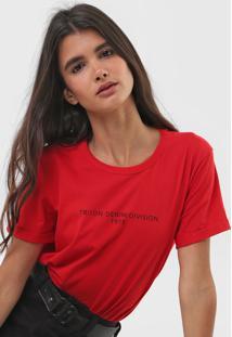 Camiseta Triton Lettering Vermelha - Kanui