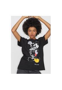 Camiseta Colcci Mickey Preta
