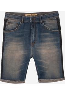 Bermuda John John Rock Panama 3D Jeans Azul Masculina (Jeans Medio, 40)