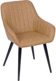 Cadeira Florença- Caramelo & Marrom Escuro- 84X60X41Or Design