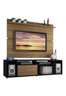 Rack Madesa Cancun E Painel Para Tv Até 65 Polegadas Preto/Rustic/Rustic Preto