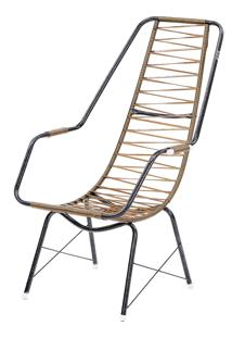 Cadeira De Fio Trançado Eletrostático Plus Ouro Fabone Móveis Tubulares