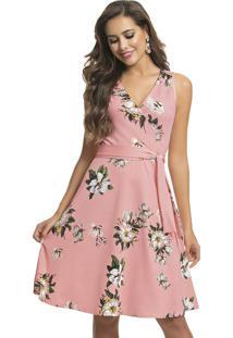 Vestido Social Rodado Floral