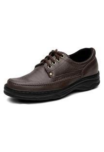 Sapato Torani Confortável Cadarço Marrom
