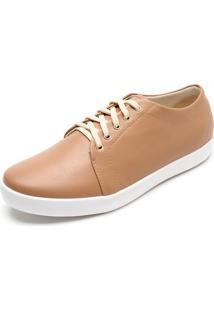 Tênis Dafiti Shoes Pesponto Caramelo