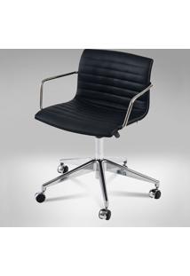 Cadeira Delta Girat. C/Braço 5 Patas Rodizio Gás Design By Studio Clássica