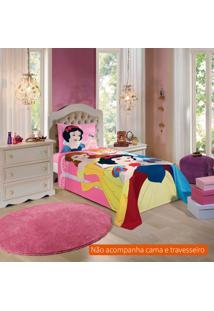 Jogo De Cama Infantil Com 2 Peças Princesas Algodão Rosa