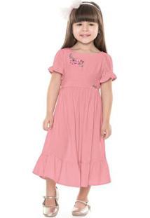 Vestido Midi Rosa