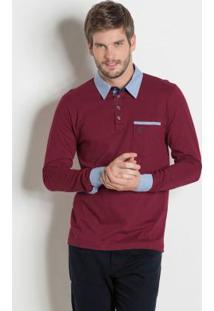 Camisa Manga Longa Vinho
