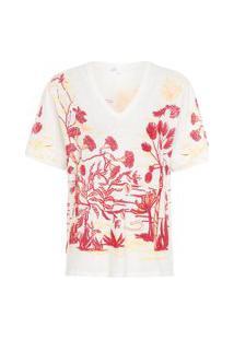 Camiseta Feminina Silk Malba - Off White