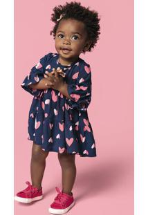 Vestido Bebê Menina Rodado Em Tecido Hering Kids