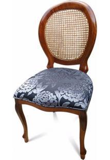 Cadeira Medalhão Palhinha Indiana Com Pinturas E Tecidos Personalizáveis