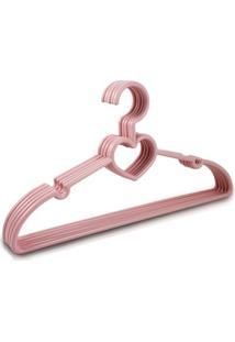 Cabide Com 5 Peças - Feminino-Rosa