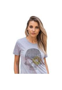 Camiseta Basica My Tshirt Caveira Girassol Mescla