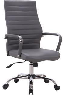 Cadeira De Escritório Diretor Giratória Cleaner Cinza